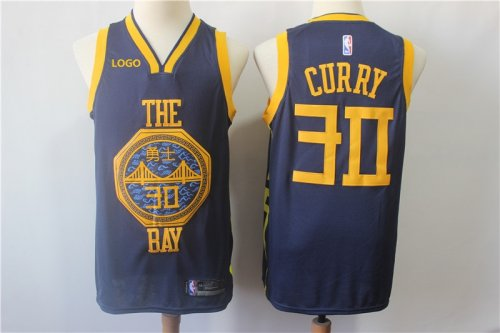 premium selection f77a7 8d9b4 #30 Curry 2019 Warriors city jersey (stitched) Basketball Jersey