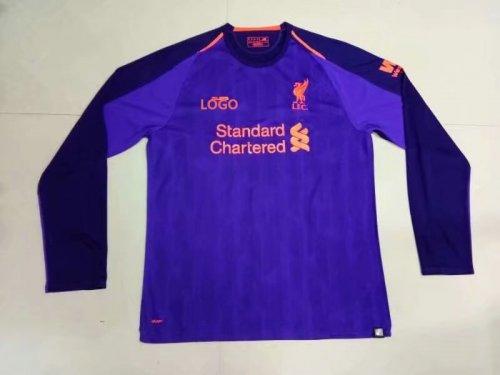 reputable site 03e58 05cf2 2018/2019 Men Liverpool Away Purple Long Sleeve Football Jersey Shirt