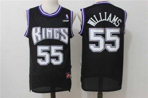 new arrival 7c515 42ba9 Men 55 Jason Williams Jersey Black Sacramento Kings Throwback Swingman