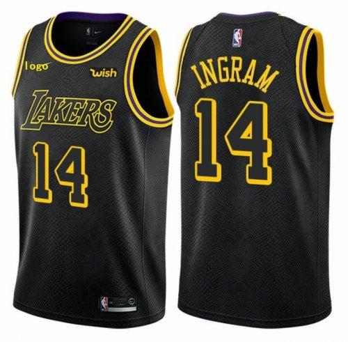 free shipping d676f b30aa Latest Style #14 Brandon Ingram - Mens Los Angeles Lakers Jerseys #14  Brandon Ingram Black