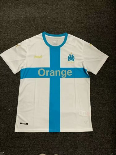 buy online f9ee8 f8748 Men's 2019/20 Olympique Marseille Home Soccer Jersey Football Shirt