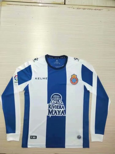 newest 5eb53 bacf3 2019-20 Men Espanyol Home Long Sleeve Soccer Jerseys