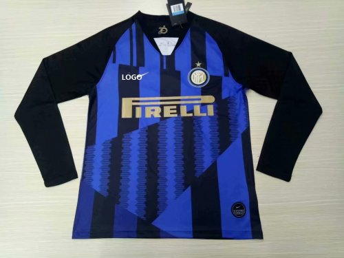 online store a2925 02bf1 19-20 Men Inter Milan Home Long Sleeve Soccer Jersey Thai Quality