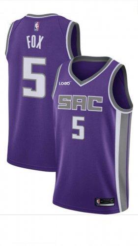 various colors 34f14 f6d77 Men's De'Aaron Fox Purple Sacramento Kings Swingman Jersey - Icon Edition