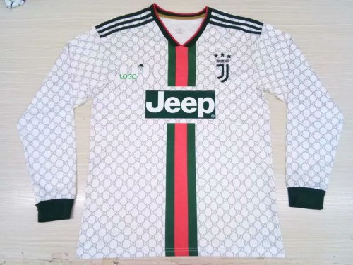 19-20 Adult juventus Away Thai version Long Sleeve Soccer Jersey