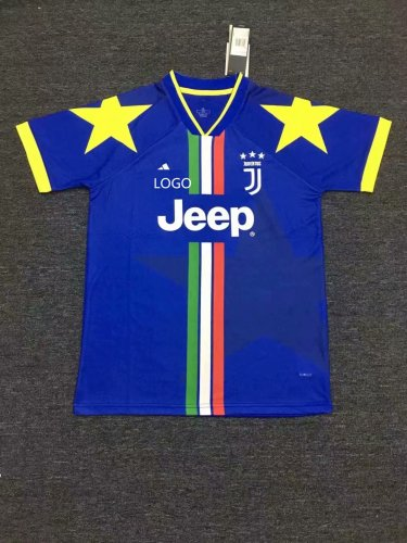 19/20 Men juventus blue Thai Quality Soccer Jersey