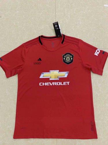 official photos de95d 358d2 19/20 Men Manchester United home red thai quality Soccer jersey