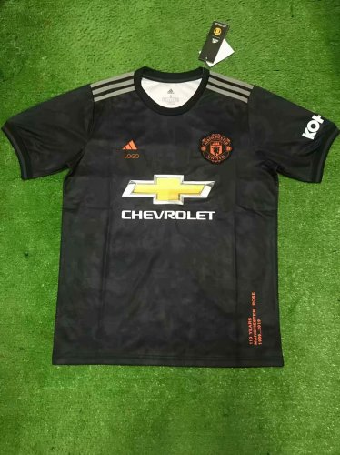 new products cd99e a0658 19/20 Adult Manchester United third away balck fan version Soccer jersey