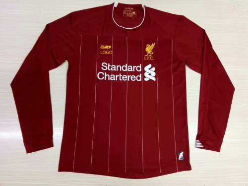 19/20 Adult Liverpool red long sleeve thai version Soccer jersey