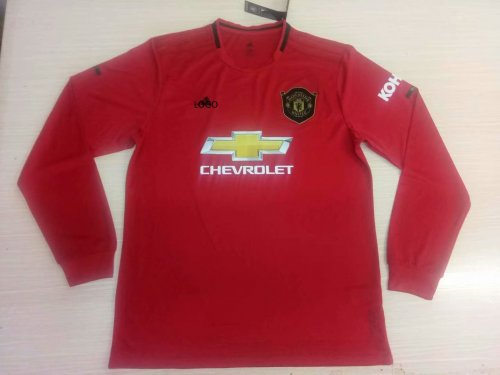 timeless design 1de5c 7ace8 2019/20 Men thai version Manchester United home red long sleeve soccer  jersey
