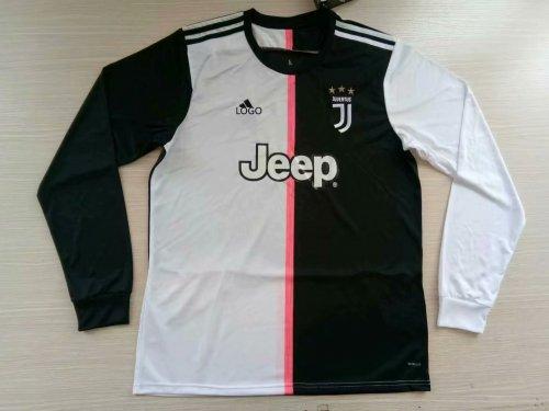 cheap for discount 52028 ee102 2019/20 Men fan version juventus home long sleeve Soccer jersey