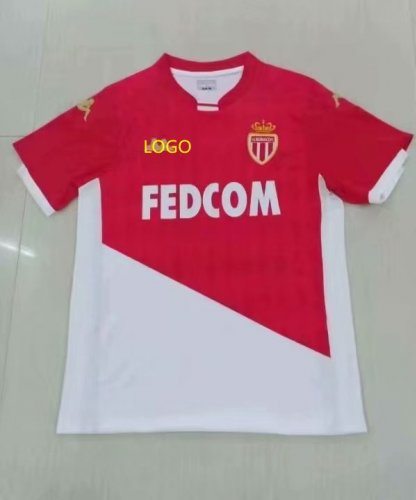 2019/20 Adult fan version Monaco home soccer jersey