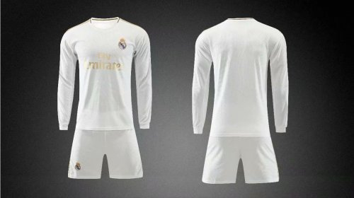 sale retailer 93cef 8dd07 2019/20 AAA Quality wihout logo Adult real madrid long sleeve  soccer/football uniforms/kits