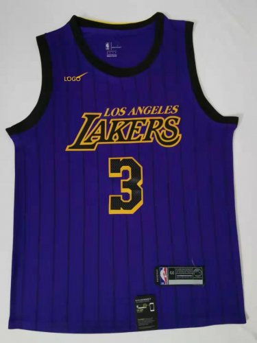 the latest 13901 496ef 2019/20 Adult Los Angeles lakers 3 City version DAVIS basketball jersey