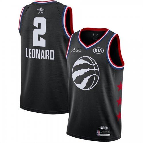 the best attitude 3d738 b2298 2019/20 Adult All-Star Rookie Jersey Toronto Raptors LEONARD 2 balck  basketball shirt