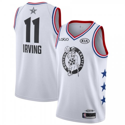 reputable site ffe71 733ea 2019/20 men All-Star Rookie Jersey Boston Celtics IRVING 11 white  basketball shirt