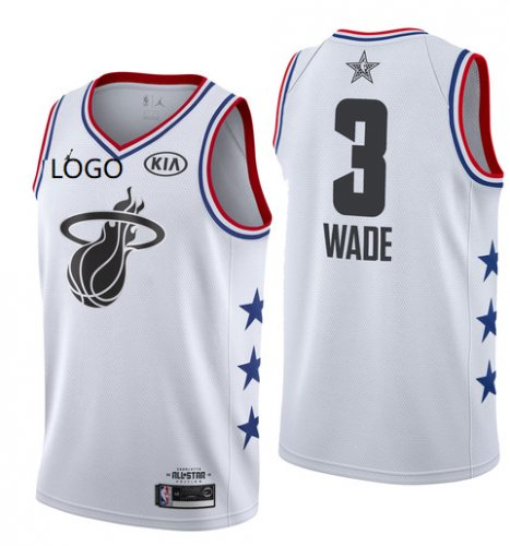 new style 5d5d2 77bdc 2019/20 Adult All-Star Rookie Jersey Miami Heat 3 white basketball shirt