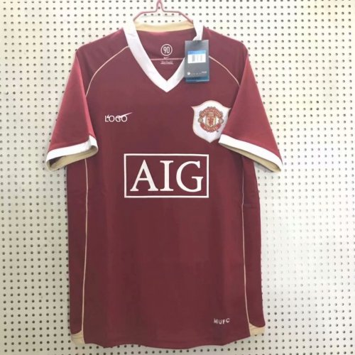 info for 667c4 45918 06 Adult thai quality Manchester United home retro soccer/football jersey