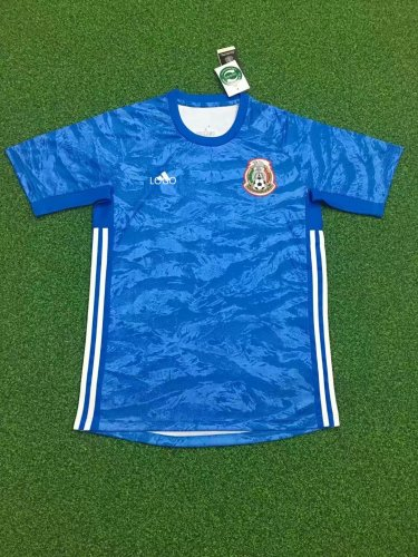 online store fb64c b9ddd 2019/20 Adult fan version Mexico blue soccer/football jersey