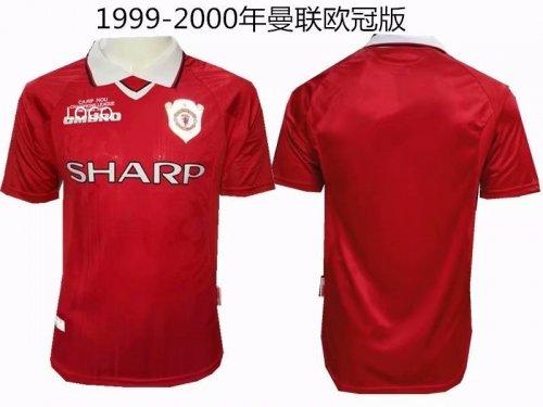 brand new 5ffd9 fe9eb 99-00 men fan version Manchester United home retro soccer/football jersey
