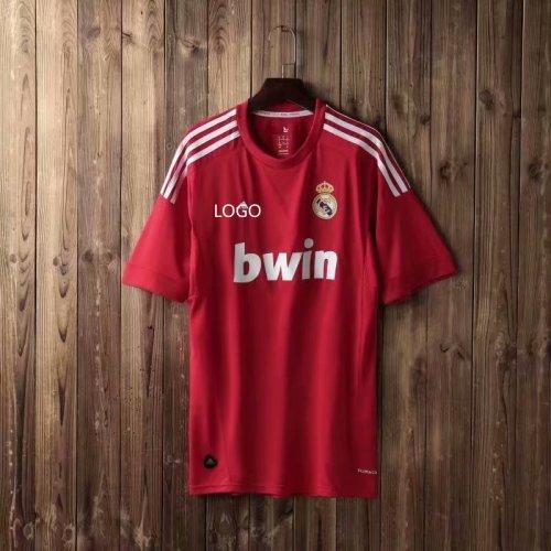buy online 491e9 f9bb5 2012 Adult fan version real madrid red retro soccer /football shirt