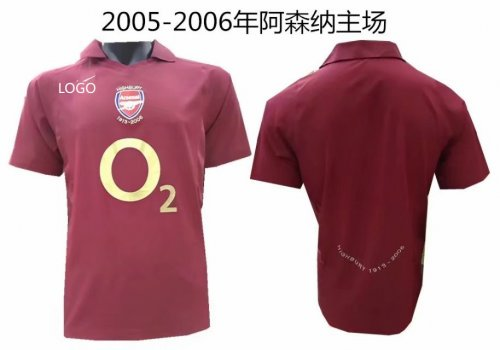 sports shoes 62288 24a13 05-06 Adult thai version home Arsenal retro soccer jersey football shirt  Fútbol