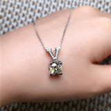 V Gold Diamond Pendant Natural Emerald Blue Necklace for Women Peridot Bizuteria Gemstone Jade Jewelry Pendant