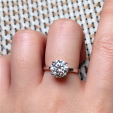Pure Original Gold Filled Ring Fashion Jewelry  White Solitaire Cubic  Wedding Rings for Women