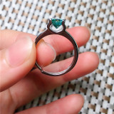 Exquisite jewelry sterling silver inlaid  Jade Jewelry Ring pendant