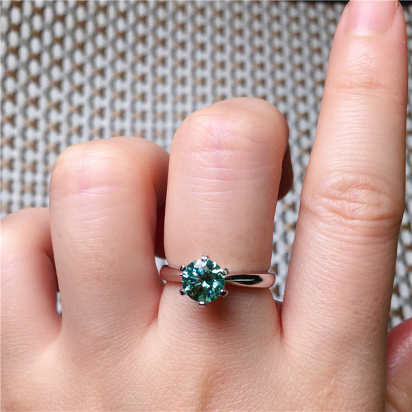 2019 new fashion retro charm women  jade silver ring Gifts to Lovers Wedding engagement jewelry ring shipping