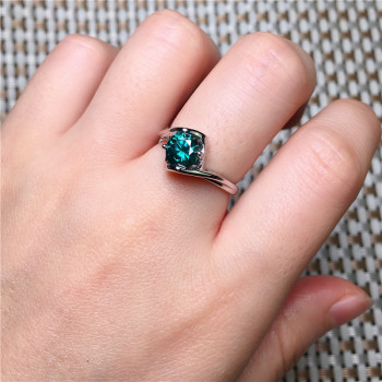 Genuine Rainbow Mystic Green Ring Sterling Silver Rings for Women Engagement Ring Silver Gemstones Jewelry