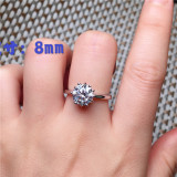 Zircon Engagement Rings for Women Rose Gold Color Wedding Rings Female Crystals Jewelry