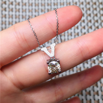 V Gold Diamond Pendant Natural Emerald Blue Necklace for Women Peridot Bizuteria Gemstone Jade Jewelry Pendant