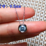 Round Natural Jades Earrings For Women Vintage Antique Silver Plated Party Hollow Flower Pendant Fashion Jewelry