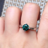 Real sterling silver rings natural peridot rings gemstone rings for women jewelry