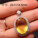 Chalcedony Transfer Beads Pendant Gold Jade Fashion Necklace Lucky Amulet Lovers Jewelry For Men Women Gift