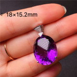 Natural Brazilian Amethyst Pendant Angel Tear Agate Bizuteria Bijoux or Jade Pendants Jewelry for Women Men Gemstone NoEnName