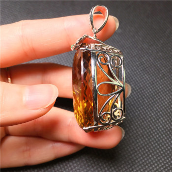 Originally made pendant Jade 925 Sterling Silver Pendant without chain Pavilion Chinese style jewelry