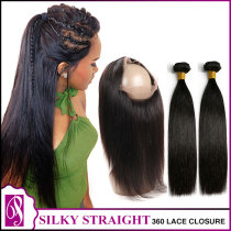 Virgin Hair with a 360 Closure