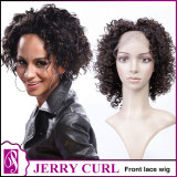 Front lace wig jerry curl
