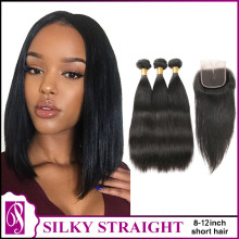 50% OFF --8-12inch short hair  300g+Closure