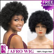 FREE SHIPPING for  Human Hair Afro Wig