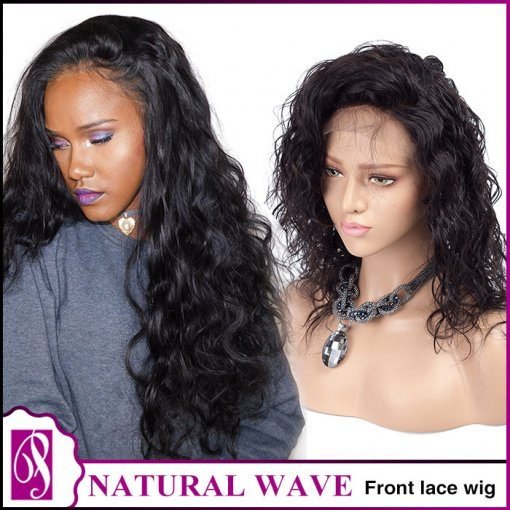 Front lace wig natural