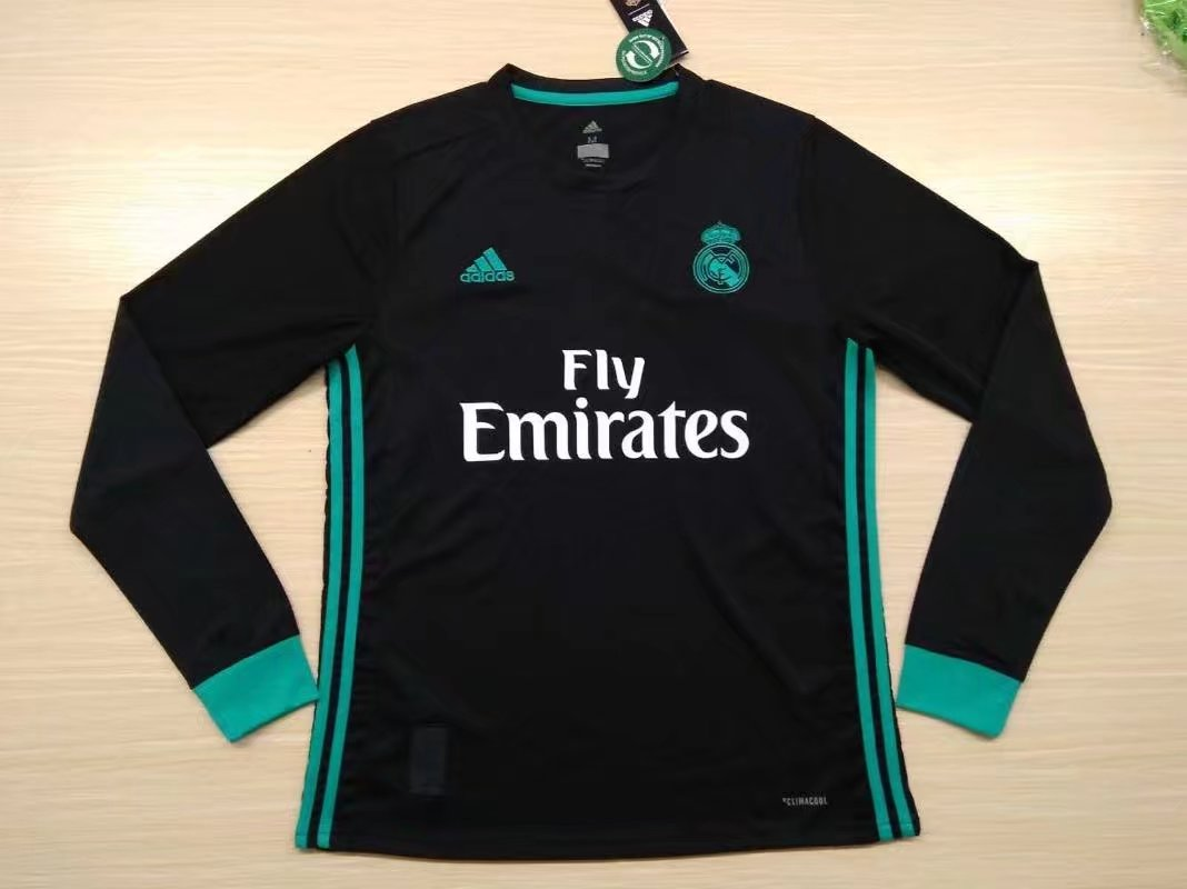 Real Madrid 17-18 Away Long Sleeve Soccer Jersey LS Football Shirt camiseta  de Futbol AAA Thailand Quality fd0188d8f50f8