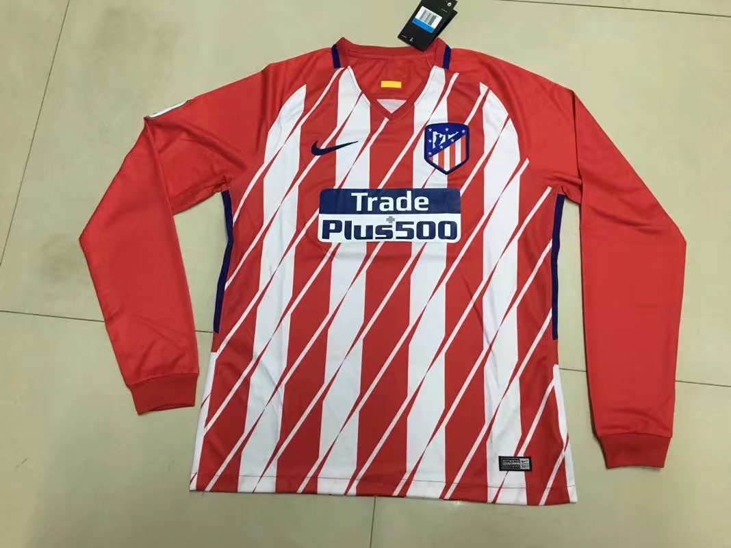 Atletico Madrid 17-18 Away Long Sleeve Soccer Jersey LS Football Shirt  camiseta de Futbol AAA Thailand Quality b66848cb6bccb