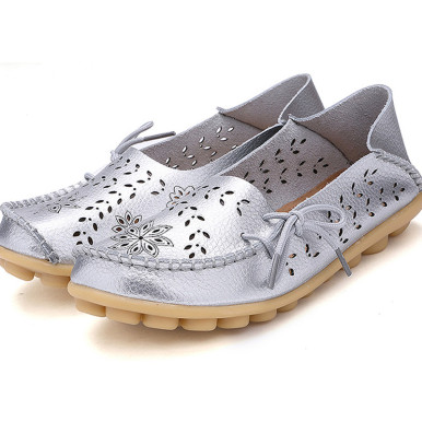 OneBling Top Quality Women Fashion Summer Hollow Out Flats Shoes Slip-on Comfort Casual Shoes Lazy Shoes
