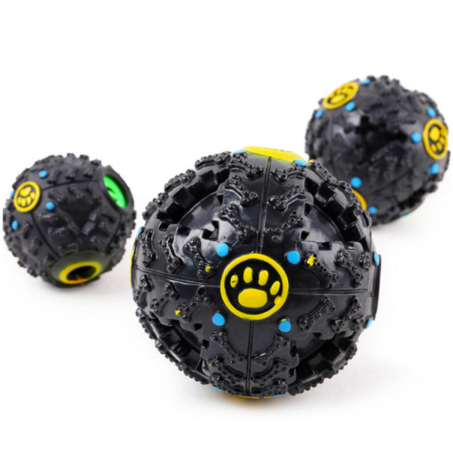 OneBling Pet Color Sound Leakage Food Ball Toy Sound Training Toy Chew Ball Resistant Teeth Bite Dog Toys Pet Ball Toy