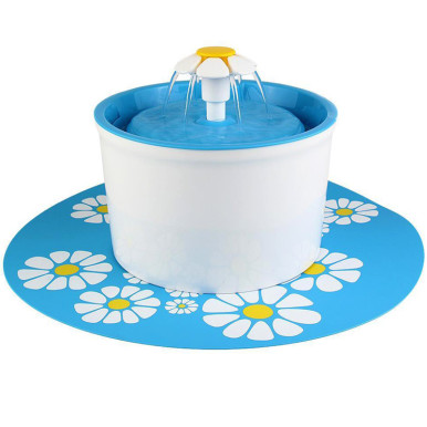OneBling Five Specifications Automatic Plastic Flowers Fountain Pet Drinking Water Fountain(Including Silicone Mats)