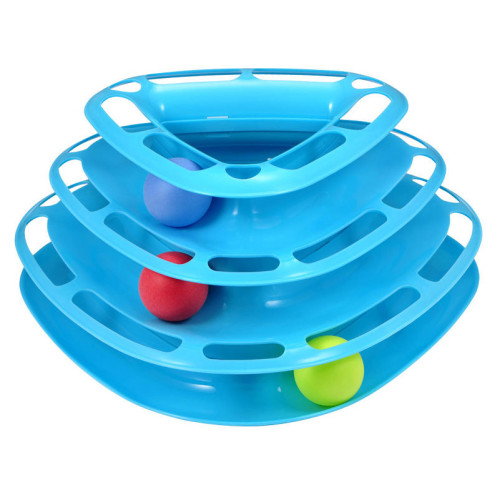 OneBling Three Removable Turntable Cat Toy Funny Tower Cat Toy Pet Ball Disk Interactive Amusement Plate