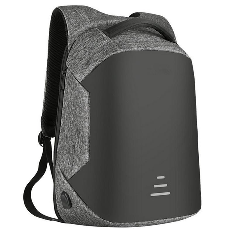 Waterproof Men Backpack Laptop USB Charging Port Rucksack Travel Shoulder Bag